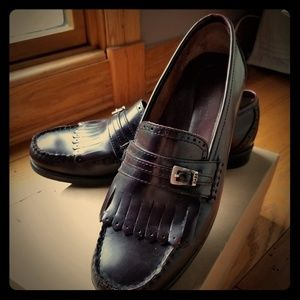 Bass Weejuns, Burgundy leather Penny loafers